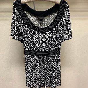 Lane Bryant Womens Top Blouse Size 18/20W Black